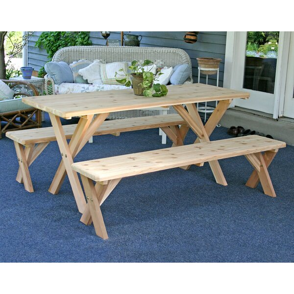 Cedar 3 Piece Dining Set by Creekvine Designs
