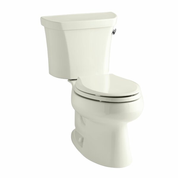 Wellworth Two-Piece Elongated 1.28 GPF Toilet with Class Five Flush Technology, Right-Hand Trip Lever and Insuliner Tank Liner by Kohler