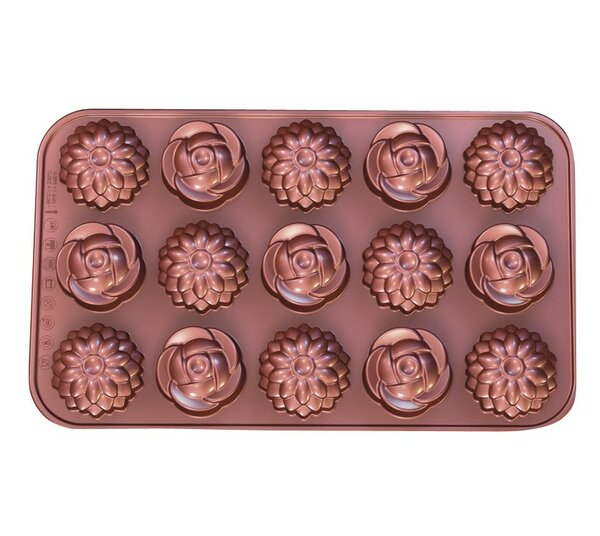 La Patisserie Non-Stick Chocolate Flower Decorative Mold (Set of 2) by MyCuisina