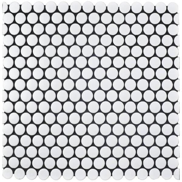 Retro 0.75 x 0.75 Porcelain Mosaic Tile in Matte White by EliteTile