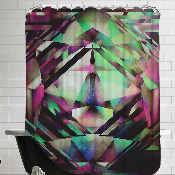 Ace of Bottles Shower Curtain by East Urban Home