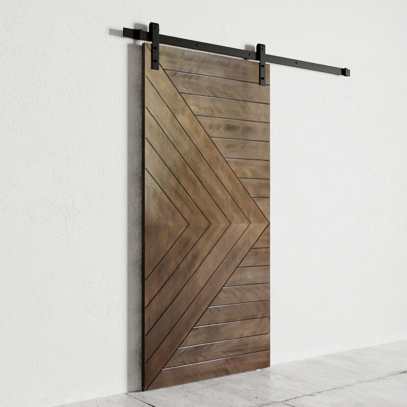 Urban Woodcraft Paneled Wood Finish Dawson Barn Door With Installation Hardware Kit Wayfair