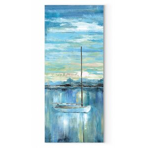 'Evening Bay I' Oil Painting Print on Wrapped Canvas by Breakwater Bay