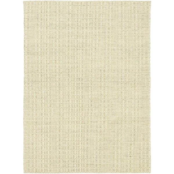 One-of-a-Kind Elswick Hand-Knotted Wool Beige Indoor Area Rug by Rosecliff Heights
