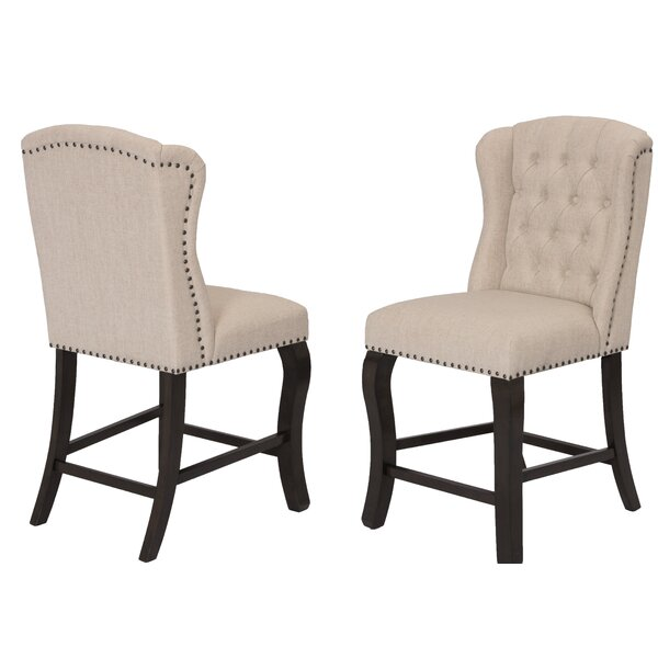 Dresser Counter Height Upholstered Dining Chair (Set Of 2) By Darby Home Co