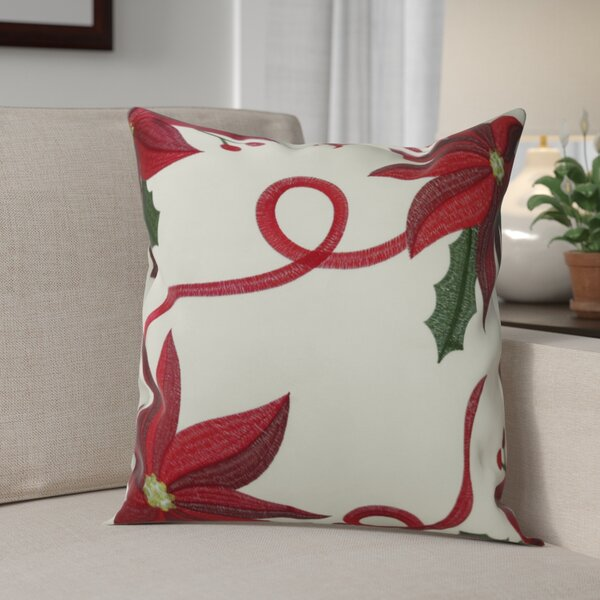 Bloomy Decorative Christmas Throw Pillow Cover by The Holiday Aisle
