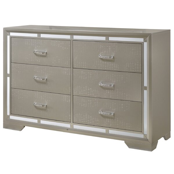 Mohn 6 Drawer Double Dresser by House of Hampton