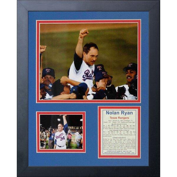 Nolan Ryan - 7th No-Hitter Framed Memorabilia by Legends Never Die