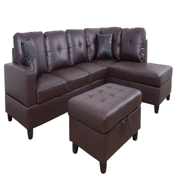 Free Shipping Manitou Roy 32'' Right Hand Facing Sectional With Ottoman