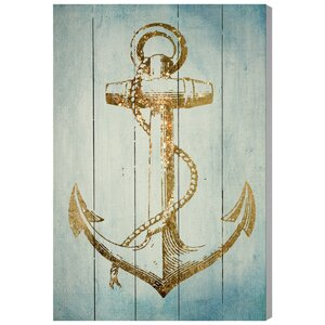 'Sea Anchor' Painting Print on Wood by Oliver Gal