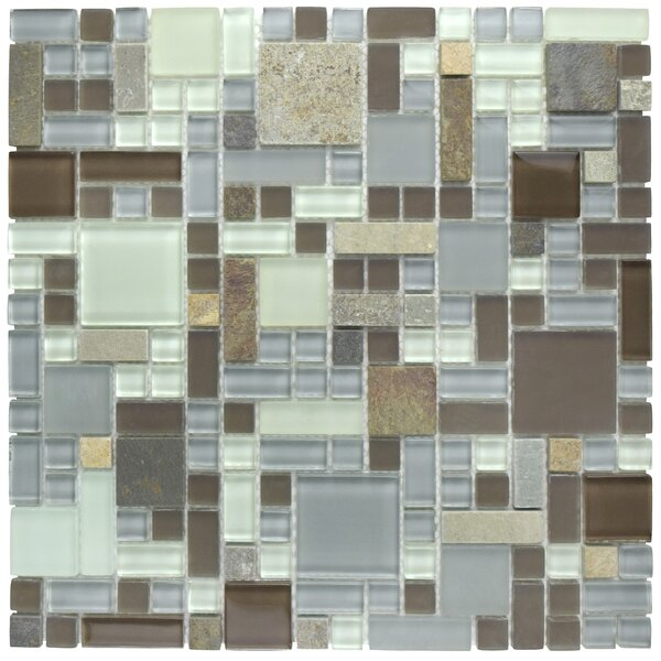 Sierra Random Sized Glass/Stone Mosaic Tile in Versailles Tundra by EliteTile