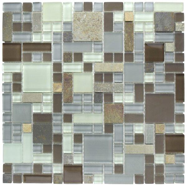 Sierra Random Sized Glass/Stone Mosaic Tile in Versailles Tundra by EliteTile