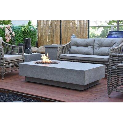 Elementi Metroplis Concrete Fire Pit Table  Fuel Type: Propane