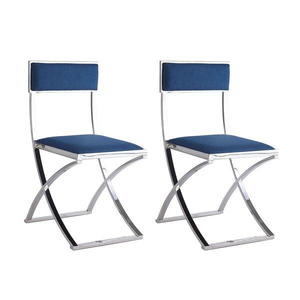 Dercho Upholstered Dining Chair (Set of 2) by Orren Ellis