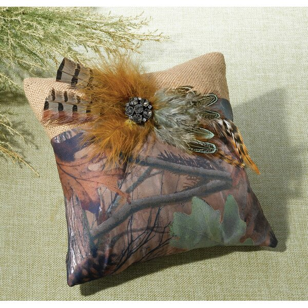 Camouflage Ring Bearer Pillow by Lillian Rose