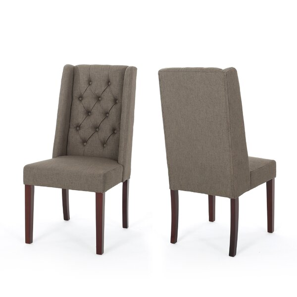 Pennell Upholstered Dining Chair (Set of 2) by Canora Grey