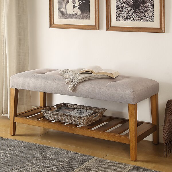 Warwickshire Wood Storage Bench By Charlton Home.
