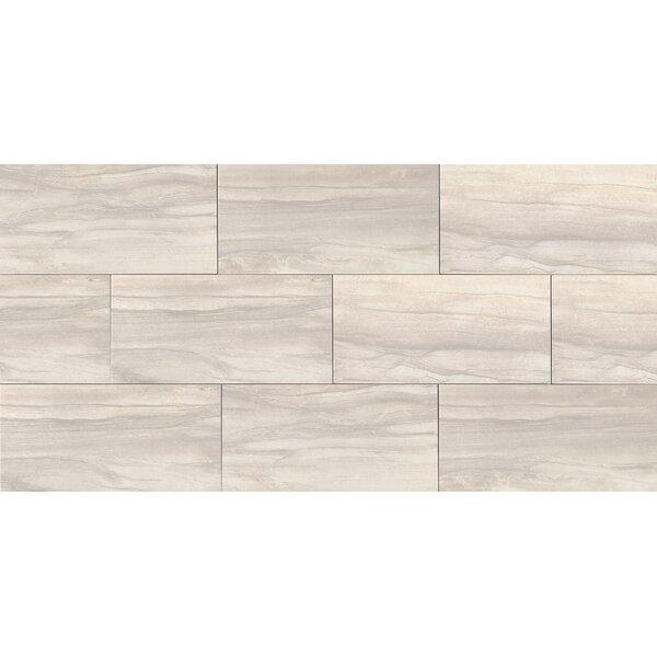 Athena 12 x 24 Porcelain Wood Look/Field Tile in Pearl by Bedrosians