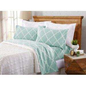Hillyard Super Soft Cloud Lattice Fleece Flannel Sheet Set