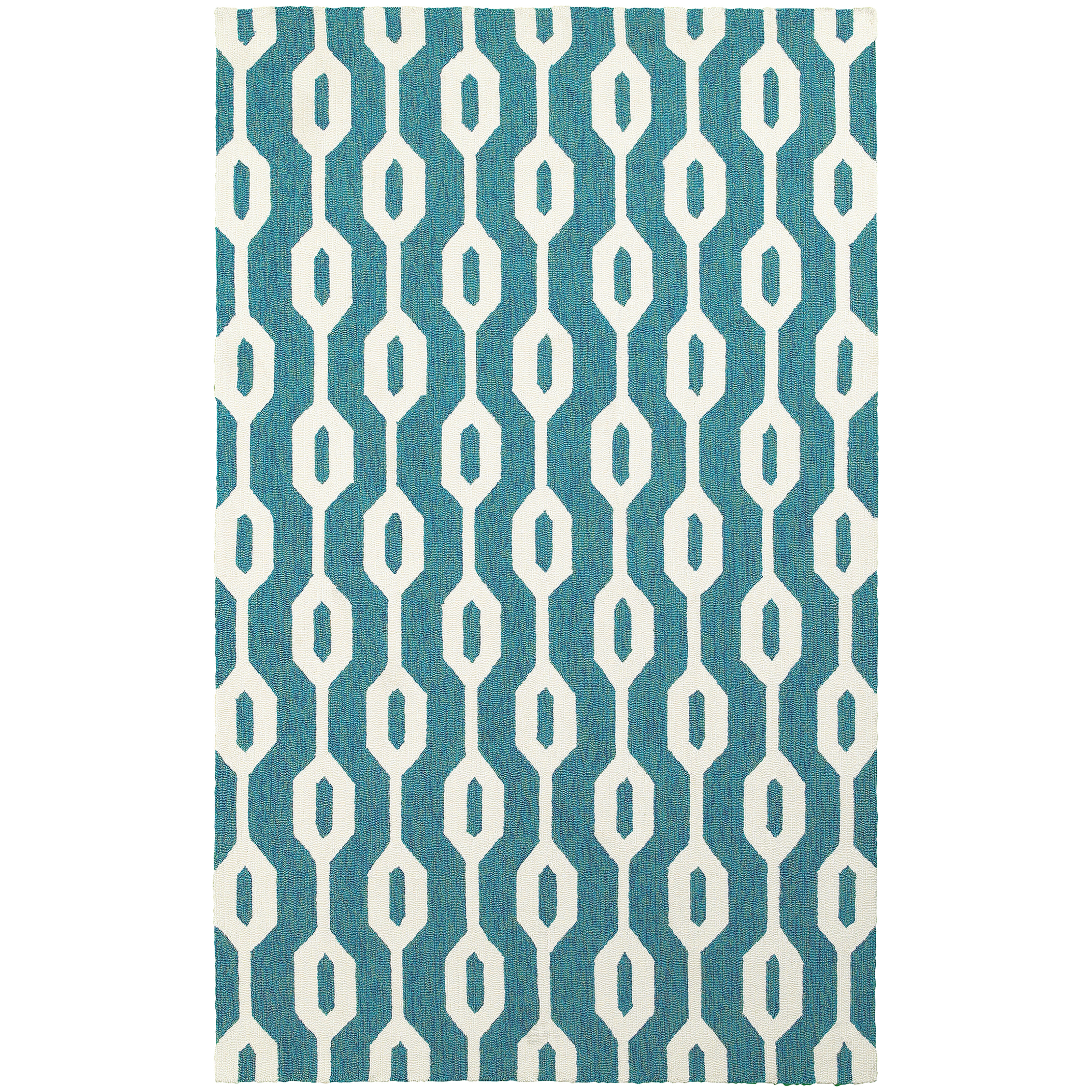 Tommy bahama rugs atrium geometric odgee hand woven blue for Bahama towel chaise cover