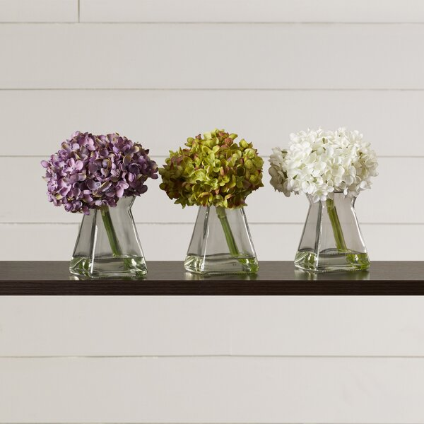 Hydrangeas in Vase (Set of 3) by Lark Manor