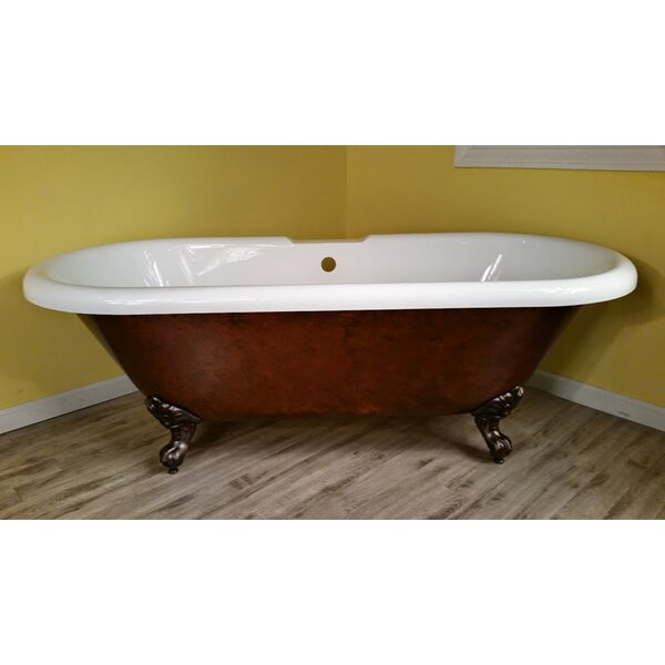 Acrylic Slipper Clawfoot 60 x 30 Freestanding Soaking Bathtub by Cambridge Plumbing
