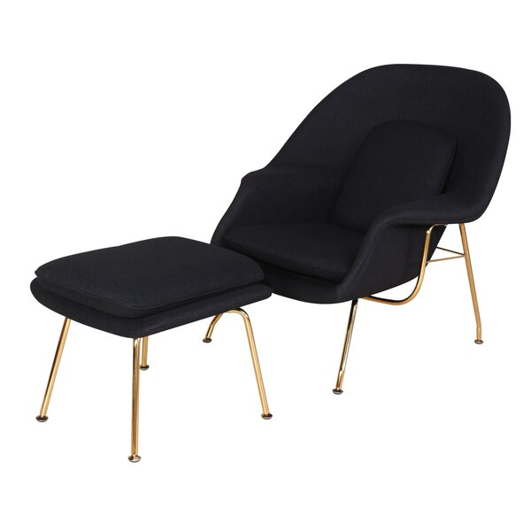 Mineo Haven Lounge Chair and Ottoman by Orren Ellis