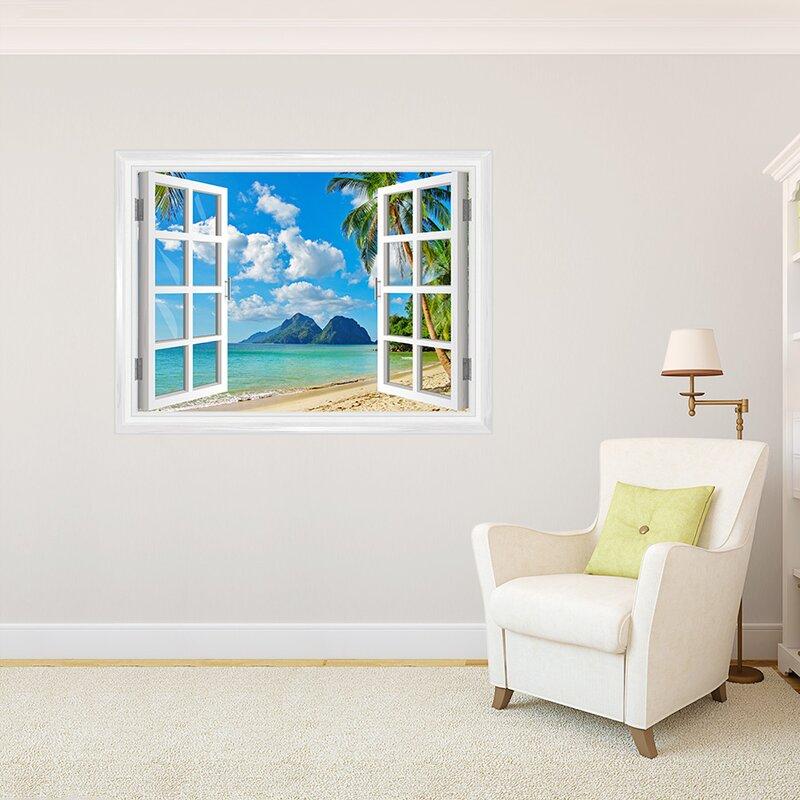 Island Paradise Window Wall Decal