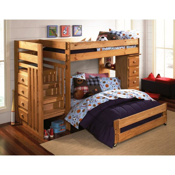 Ashton Twin over Full L-Shaped Bunk Bed with Drawers by Wildon Home ®