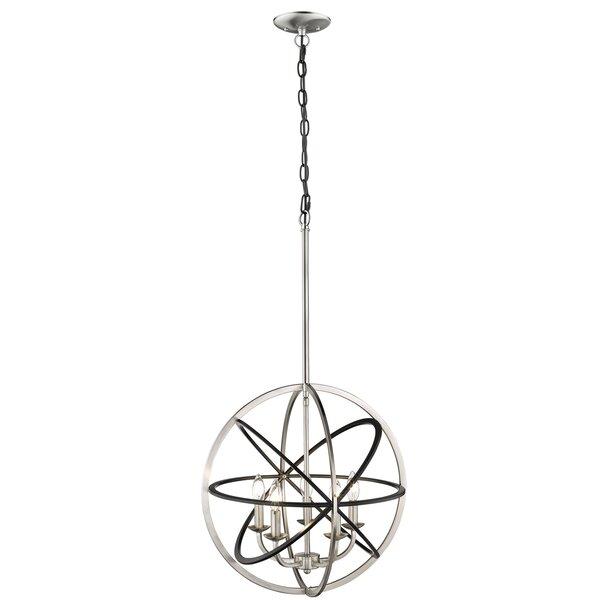 Jurnee 5 - Light Unique / Statement Globe Chandelier by Wrought Studio Wrought Studio