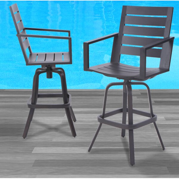 Moralez 30 Patio Bar Stool (Set of 2) by Williston Forge