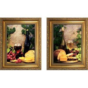 'Wine Club II' 2 Piece Framed Photographic Print Set by Fleur De Lis Living