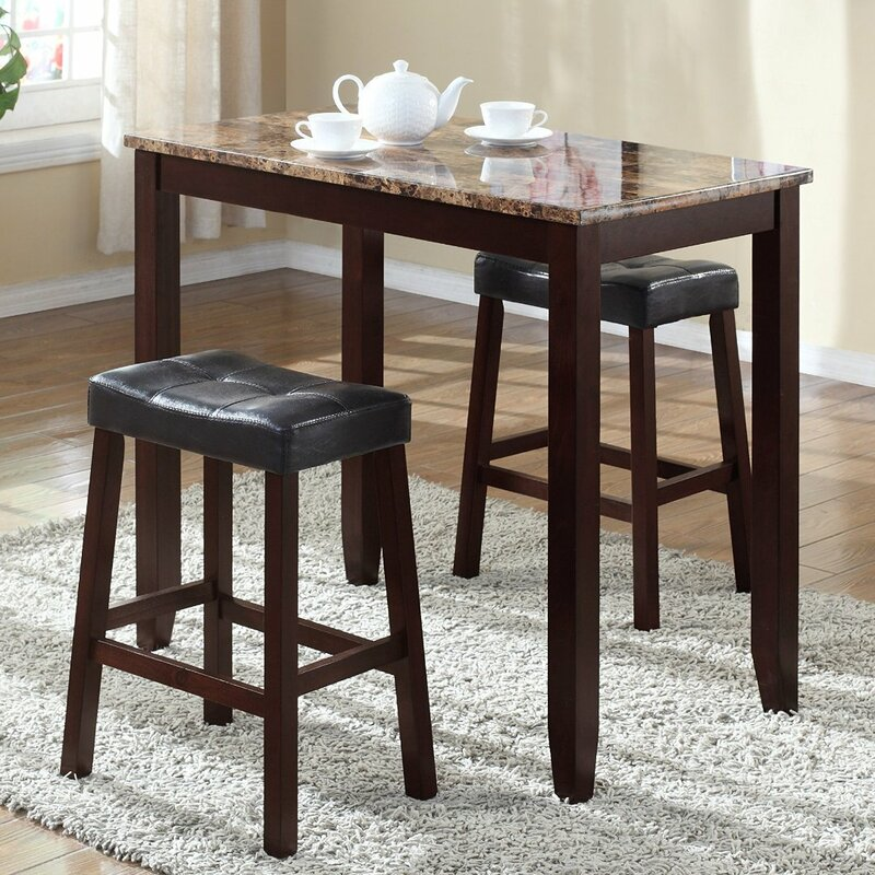 andover mills daisy 3 piece counter height pub table set reviews