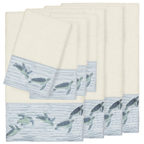 Swick Embellished 8 Piece Turkish Cotton Towel Set by Bay Isle Home