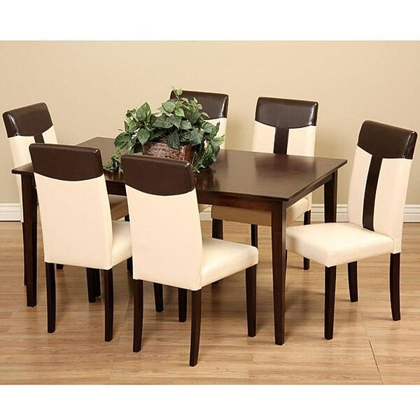 Rosette 7 Piece Solid Wood Dining Set by Winston Porter
