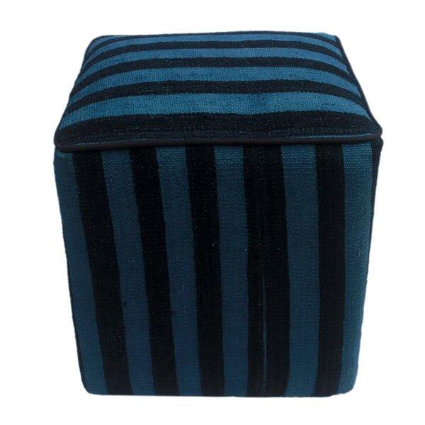 Hebron Kilim Cube Ottoman by Winston Porter