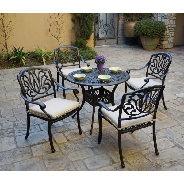 Burchard 5 Piece Dining Set with Cushions