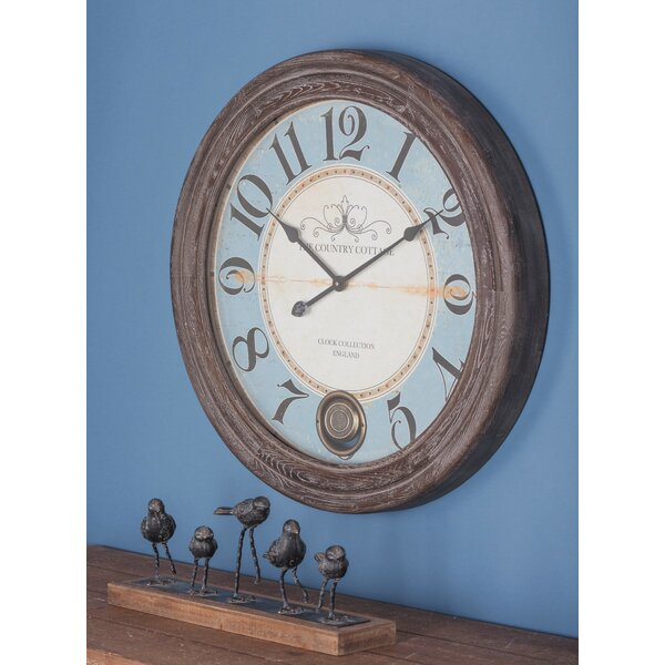 Oversized Wood 27 Wall Clock by Cole & Grey
