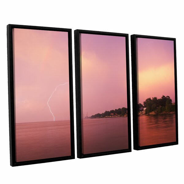 Rainbows And Lightning by Dan Wilson 3 Piece Framed Photographic Print on Canvas Set by ArtWall