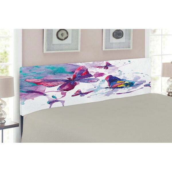 Butterfly Upholstered Panel Headboard by East Urban Home East Urban Home