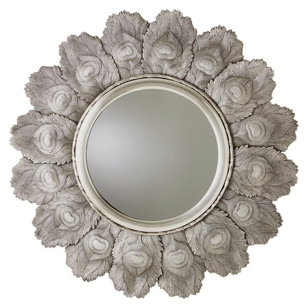 Peacock Feather Accent Mirror by Global Views