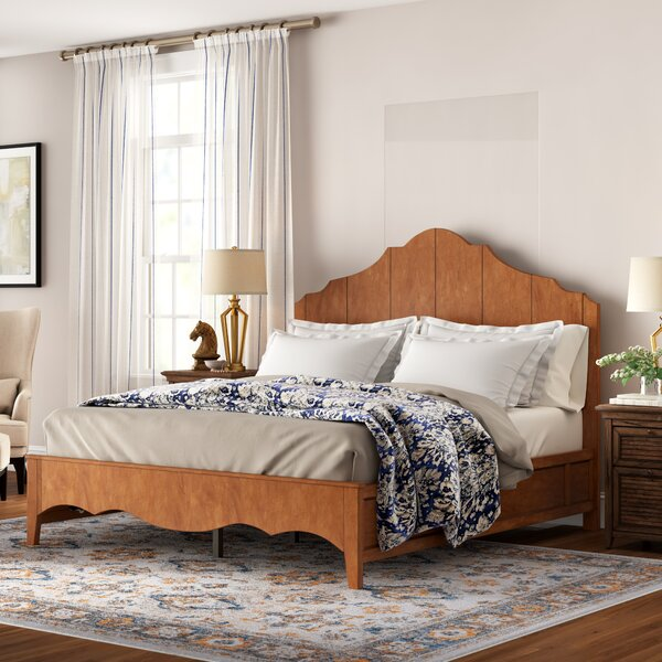 Woodside Scalloped Platform Bed by Three Posts