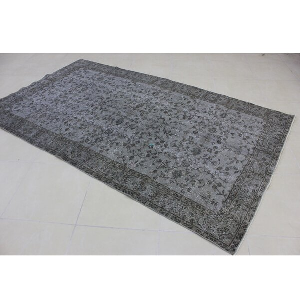 Vintage Hand-Knotted Gray Area Rug by Wildon Home ®