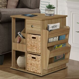 Albia End Table with Storage by Highland Dunes SKU:BB690594 Reviews