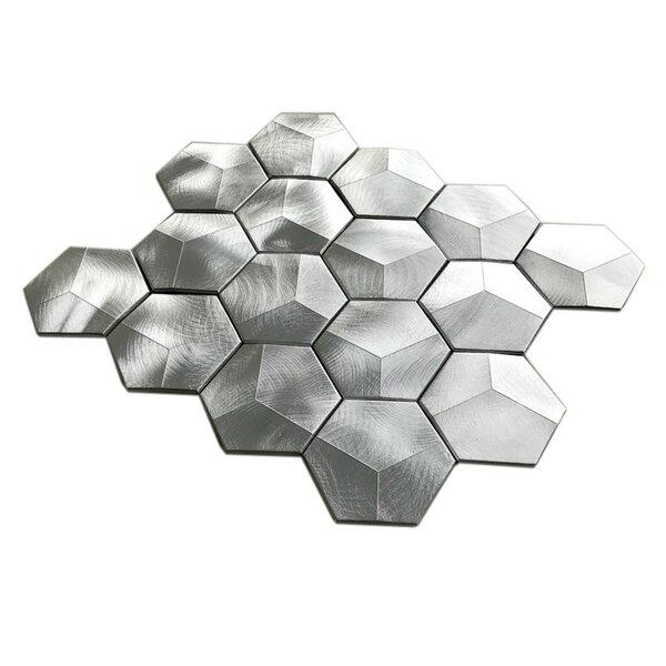 3 x 3 Metal Tile in Aluminum by Multile
