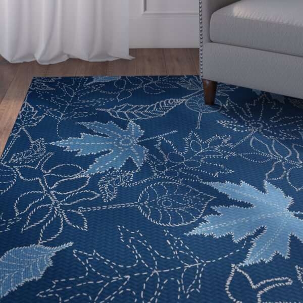 Miller Blue Area Rug by Alcott Hill