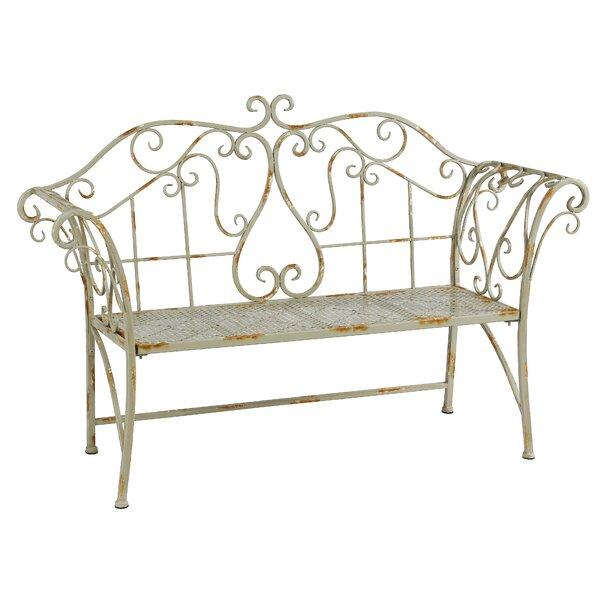 Metal Garden Bench by Winward Silks