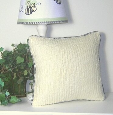Flutter Bees Decorator Chenille Throw Pillow by Brandee Danielle