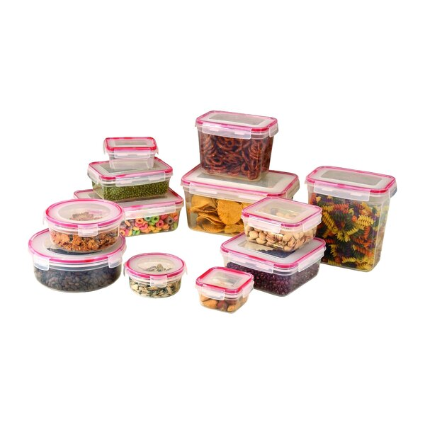 Lock and Seal 12 Container Food Storage Set by Rebrilliant