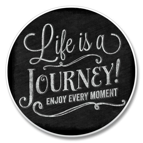 Life Is a Journey Auto Coaster by Winston Porter